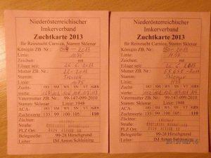 паспорт карніки тройзек 1075 з Австрії