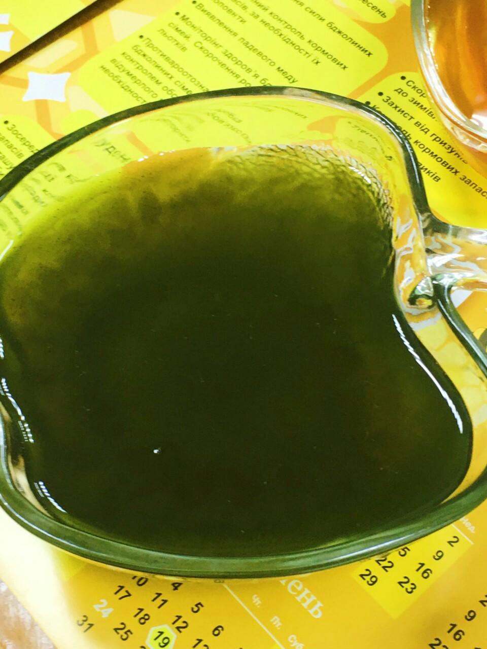 мед з Хлорелою Зелений